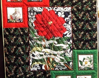 Joyeux Noel wallhanging or small quilt kit