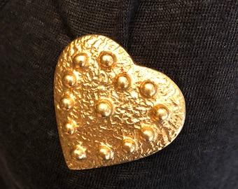 Yves Saint Laurent vintage YSL vintage brooch for heart heart pendant brooch