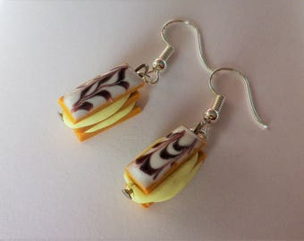 delicious earrings fimo Yarrow icing pastry true thousand leaves