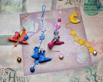 Polymer clay handmade wind chime for attract fairies