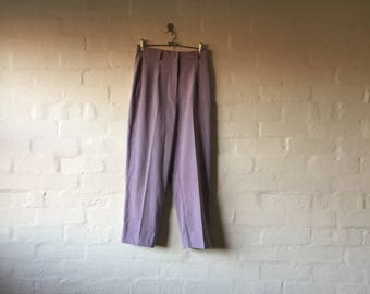 PURPLE HIGH WAISTED trousers