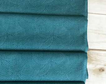 Scallop Dot Pine ~ Chroma Basics Collection by Rae Ritchie for Dear Stella Designs