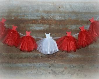 Bridal Shower Decorations, Bride and Bridesmaids,  Cap Sleeve Wedding Dress, Shower Backdrop, Bridal Shower Decor, Bride Gown Banner