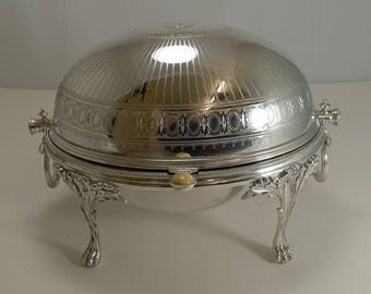 Unusual Antique English Breakfast Dish by Elkington and Co. - 1875