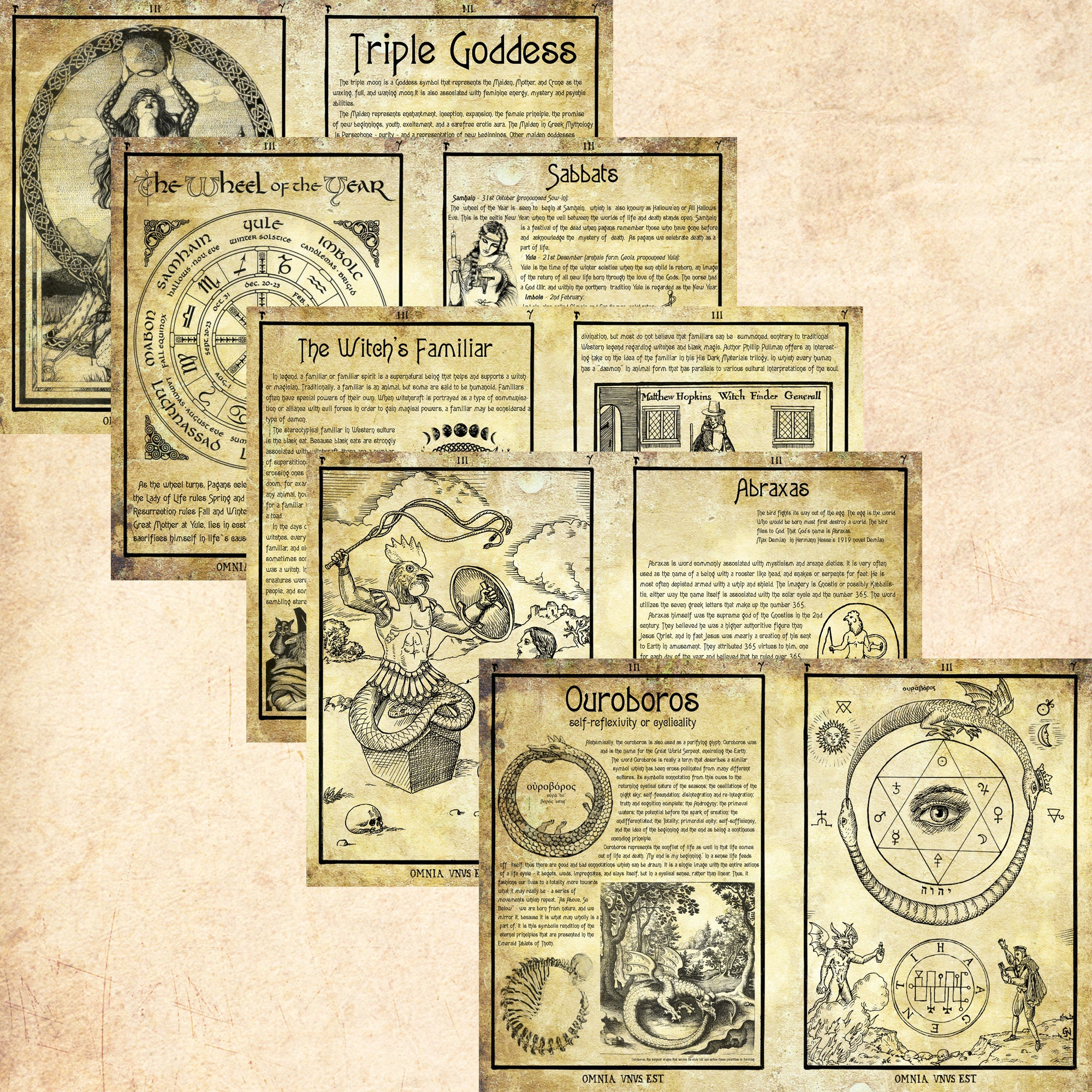 It is an image of Priceless Free Printable Grimoire Pages