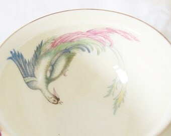 Vintage Demitasse Cup and Saucer, Bird of Paradise and Flower Decor, Rosenthal 'Winifred', Germany