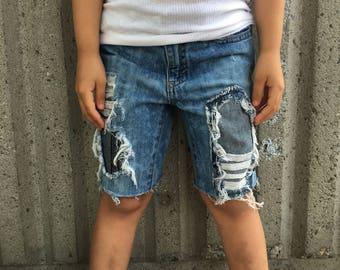 4T Toddler Boy Custom Denim Shorts