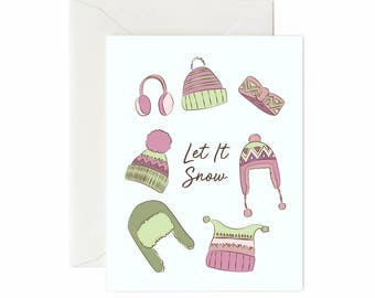 "Toque ""Let It Snow"" Greeting Card"
