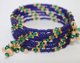 Beaded memory wire bracelet.