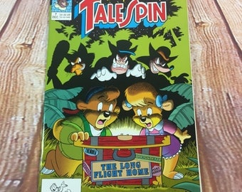 Vintage December 1991 Disney's Talespin Comic Book #7 Tail Spin