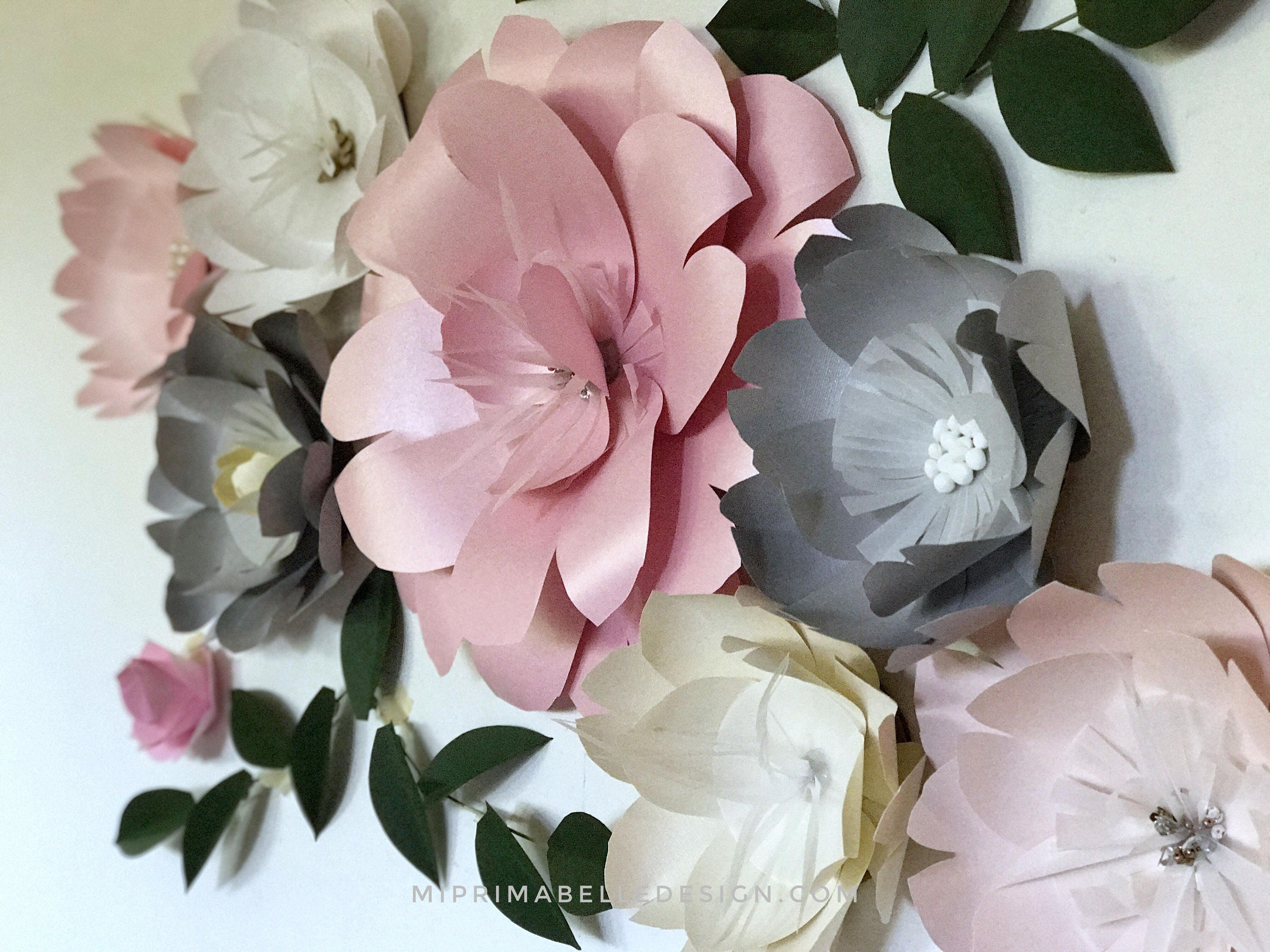 Paper flowers wall decor paper flower wall for baby girl nursery paper flowers wall decor paper flower wall for baby girl nursery bedroom wall hanging flower arrangements giant pink paper flowers amipublicfo Choice Image