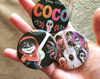 """Disney Coco pinback Buttons 2.25"""""""
