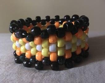 Small halloween kandi cuff braceley