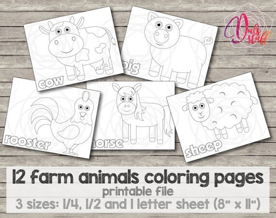 Printable Kids Farm Animals Coloring Pages 12 Bull Cow