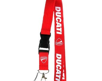 Summer Sale Ducati Lanyard, Ducati Motorcycle Key Chain, Ducati ID Holder