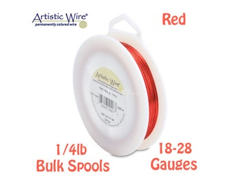 RED Artistic Wire Tarnish Resistant Craft Wire - XL 1/4lb Spool