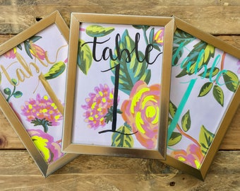 Rifle Paper Table Numbers | Jardin de Paris |Hand-Painted | Modern Calligraphy