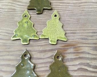 Stoneware Christmas Tree Shape Ornament