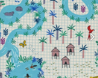 Lagoon Map - from the Lagoon collection by Rashida Coleman-Hale for Cotton + Steel