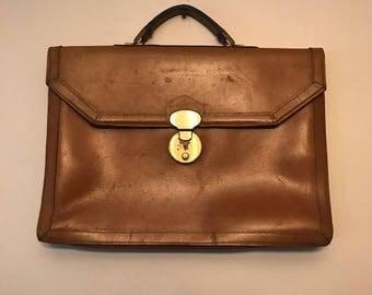Vintage Bag- Vintage Ambassador Brown Leather Briefcase