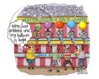 Water Balloon Race Game