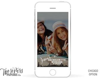 CHICAGO SKYLINE Bachelorette SNAPCHAT Filter - Chicago Bachelorette Snapchat - Chicago Snapchat Filter - Chicago Skyline - Chicago Snapchat