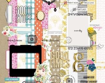 Beautiful Life - Digital Scrapbooking Full Kit
