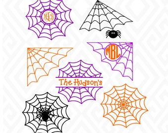Halloween Spider Web; SVG, DXF, EPS, Ai, Png, Jpeg and Pdf Digital Files for Electronic Cutting Machines