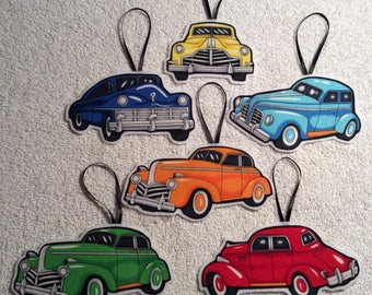 Vintage Car Ornament Set! 6 Cars Included!
