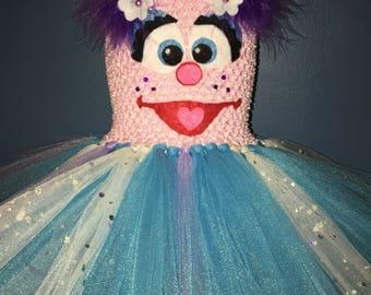 Abby Cadabby  tutu dress, Sesame Street tutu dress, Abby Cadabby costume, Sesame Street costume
