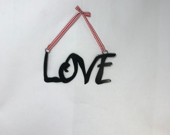 Love, metal wall art, wall words