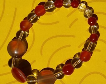 "The ""Fire in dream"" bracelet helps for digestive problems. Beaded bracelet. Healing bracelet."