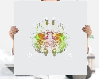 Psychology Print | Psychology Art | Psychiatrist Gift | Instant Download | Therapist Ink Print | Ink Blot | Rorschach Art Print