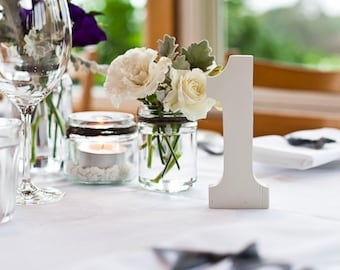 Freestanding wooden table numbers - 15cm tall - Ready to paint - Wedding table decor