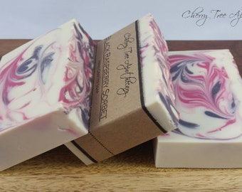 Black Raspberry Handcrafted Soap - Fruity Soap - Bar Soap
