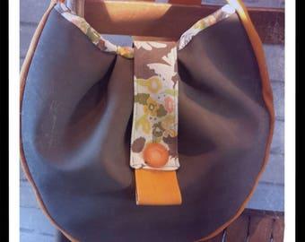 Taupe vintage handbag