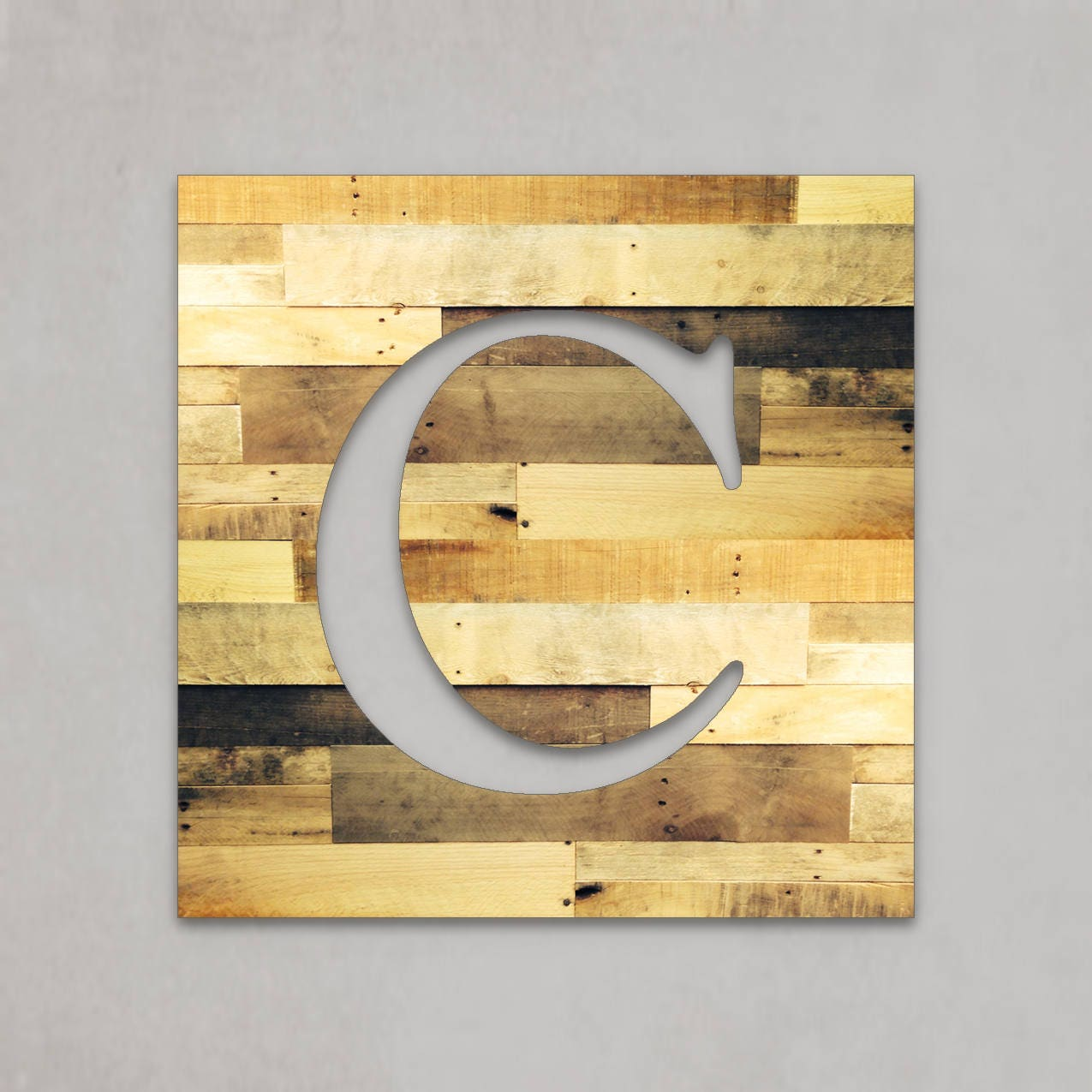 Large wood letters rustic letter cutout custom wooden wall for Large wooden letter p