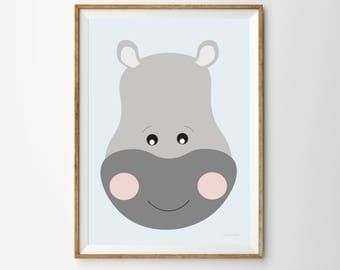 Hippo Children's Print