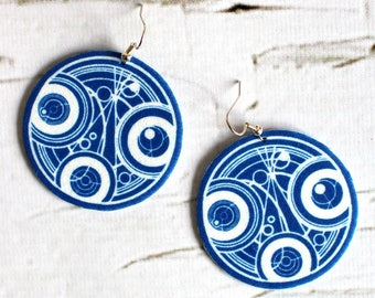 Dr Who earrings,  felt earrings