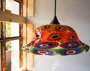 colored glass pendant lighting. pendant light colored glass hanging lamp italian art blown venetian lighting