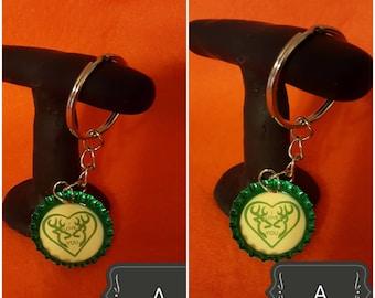 Bottle cap key chain.