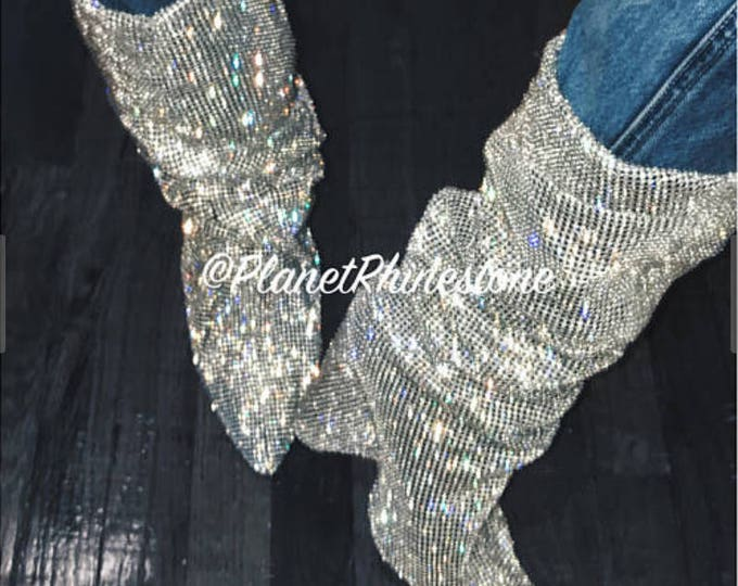 Adonia Bree DIY YSL Inspired Crystal Boots - Material