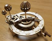 Wooden Model of the Solar System - Orrery Kit. Free Global Shipping