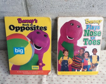 Barney's book of Opposites, Barney Plays Nose to Toes, Barney Books, Barney and Friends, Barney storybook
