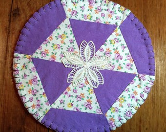 Coasters, Quilted Coasters, Fabric Coasters,