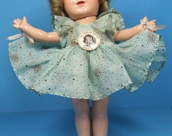 """Shirley Temple Doll 13"""" Composition Non Crazed Eyes"""