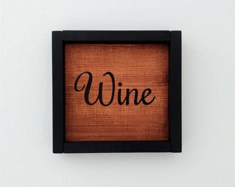 Wine, Rustic wine sign, Wine decor, Gift for wine lover, Bar sign, Bar decor, Wine bar