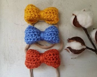 Set of 3 Medium Headbands in Red, White & Blue  / Baby Shower Headband Sets / America Headbands / Nylon Headbands / Nylon Headband Sets