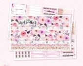 September Monthly Sticker Kit - 3 sheets / for the Vertical Erin Condren