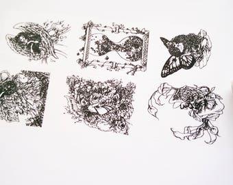 Design Washi tape girls wing black white masking tape